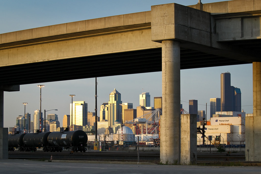 Seattle under the overpass