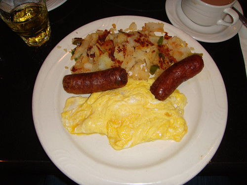 Michael's Restaurant - Two Eggs Soft Scrambled with Homefries and Sausage