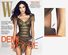 W Magazine's Demi Moore PhotoShop flub [a clos...
