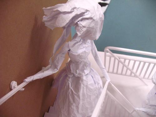 paper model - girl close up
