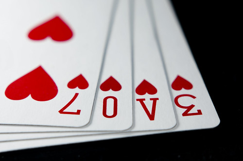 love spelled in playing cards