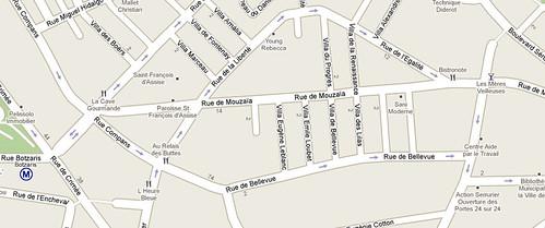 rue de Mouzaia - google maps