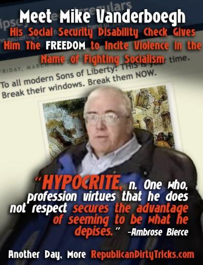 Mike Vanderboegh Hypocrite on Social Security Hates Socialism Image