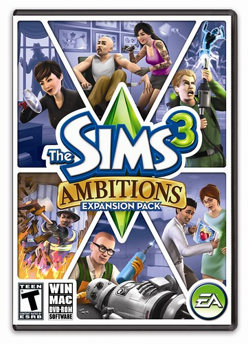 The Sims 3 Ambitions updated official cover
