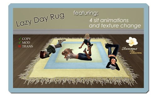 :: Awesome Blossom :: Lazy Day Rug