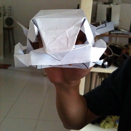 """barongsai"" origami hand-puppet"