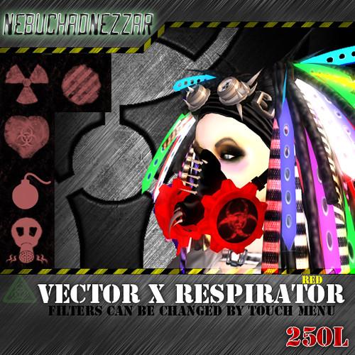NDN - Vector X Respirator  red