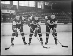 Boston Bruins Clapper, Kamensky, and Barry, 1934-1935