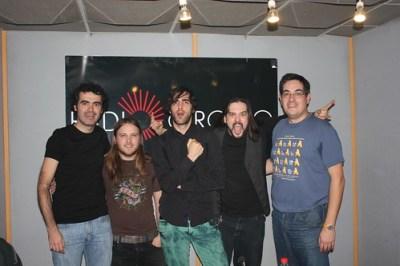 Con Rubén, Ekain y Sean de Dinero