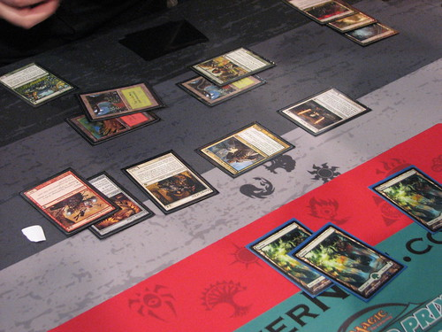 """A [card]Basilisk Collar[/card]ed [card cunning sparkmage]Sparkmage[/card] seals the deal</a></i></p> <p>That's from the round five feature match between LSV and Gaudenis Vidugiris. The well-stocked board on the left is LSV's. The obliterated board on the right belongs to Vidugiris. Watching the [card cunning sparkmage]Sparkmag[/card]e completely eviscerate Vidugiris' game plan was somewhat revelatory. I made sure to order a playset for myself later that day.</p> <p>However, outside of watching the Pro Tour and checking out the coverage, I haven't been putting much thought into Standard over the past few weeks, preferring to focus on Extended instead.</p> <p>Then, after a very busy week, I suddenly found out I was going to be able to make it to the ChannelFireball February 5K after all, and that meant I needed a deck. I'd been giving some idle thought to what I wanted to play over the course of the week, but most of that thought centered on the idea that I wanted to play [card]Knight of the Reliquary[/card]s and [card]Stoneforge Mystic[/card]s, and not lose to opposing [card]Basilisk Collar[/card]s.</p> <p><b>Framing the post-Worldwake metagame</b></p> <p>Even when designing a deck on very short notice, we want to check in on the current metagame. In the immediate wake of a Standard Pro Tour, I think it's reasonable to expect pretty much any tournament you attend to map onto the decks that succeeded at the PT. This time around, that meant that I thought I would be playing against Jund, Boss Naya, and U/W Control, with a possibility of Vampires and Red Deck Wins.</p> <p>The PT brings an additional consideration, in that you can realistically expect to play against decks that are derived from those that appeared in the top eight. Given the current mixed format, this can actually mean that you're going to see players with specific builds that are not the """"best"""