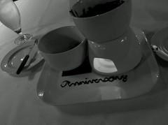 Anniversary dessert at House of Switzerland