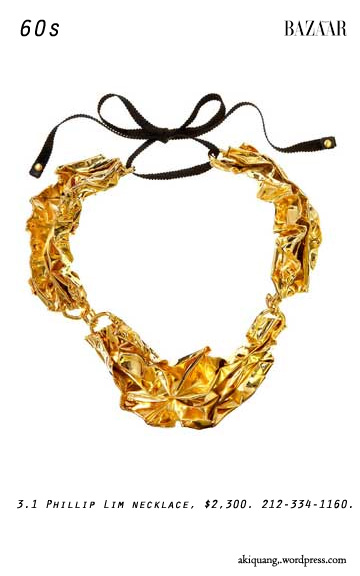 3.1 Phillip Lim necklace, $2,300. 212-334-1160.