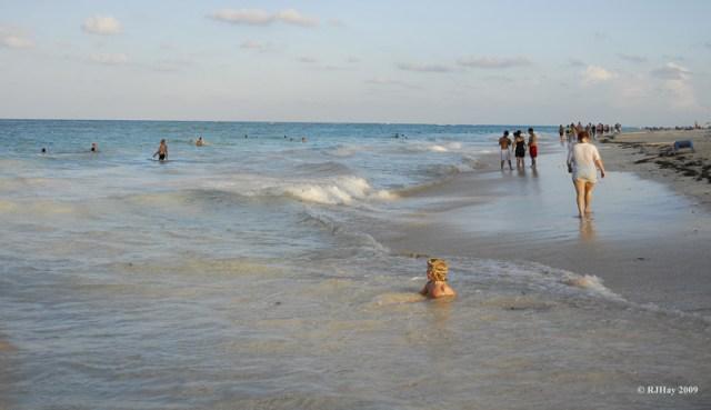 Walking along the beach - Punta Cana - 2009