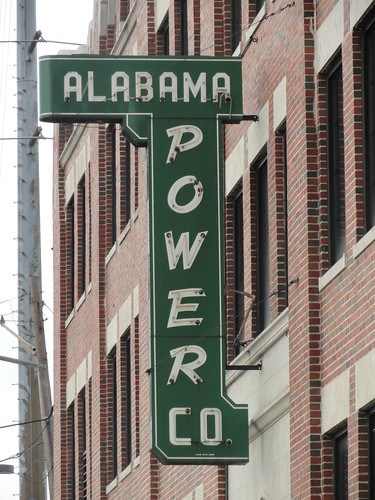 Alabama Power Company Sign, Birmingham AL