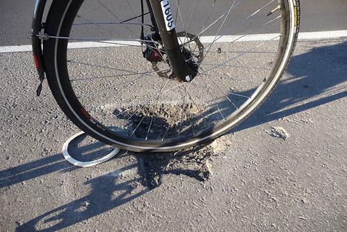 One Less Bike Lane Pothole - Scholls Ferry Road, Washington County, Oregon