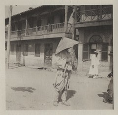 [Korean peasant in 'umbrella' hat which is cal...