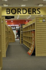 _DSC8630 Borders Book Store and entertainment shop in administration press photos