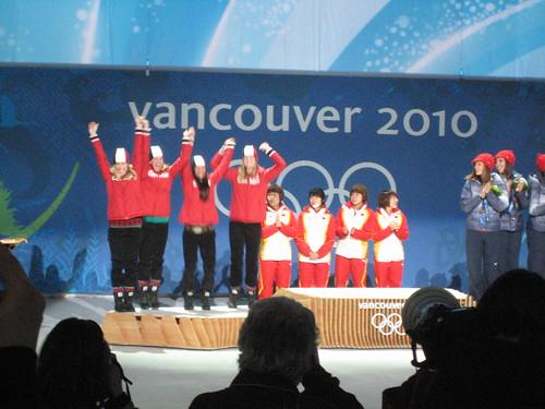 Short Track Skating jumps for silver