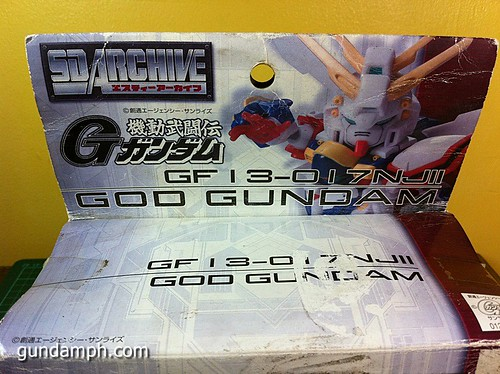 SD Archive God Gundam (5) Out Of Box Review