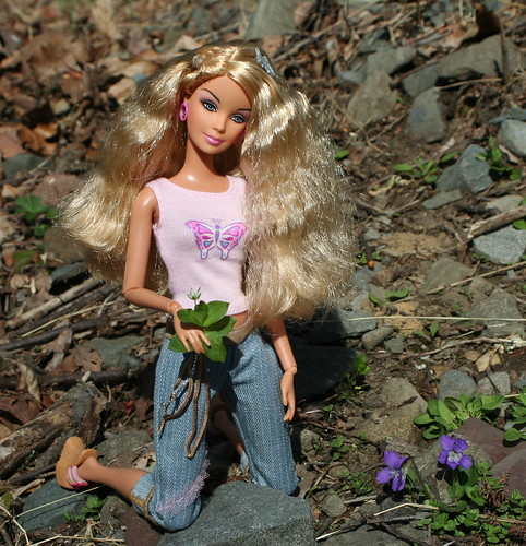 Barbie Discovers Some Wild Violets