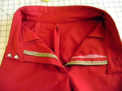 shorts - zipper