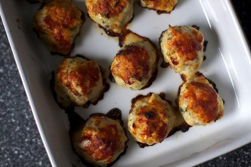 baked chicken pancetta meatballs
