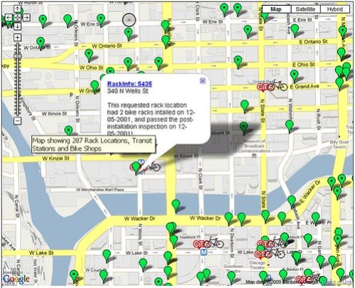 Chicago Bike Rack info