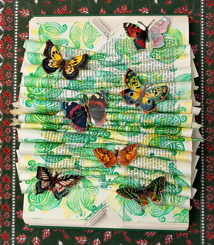 Altered Book: The Butterfly Garden