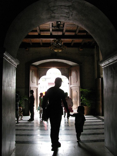 Father and Daughter in Basilica de Santo Nino