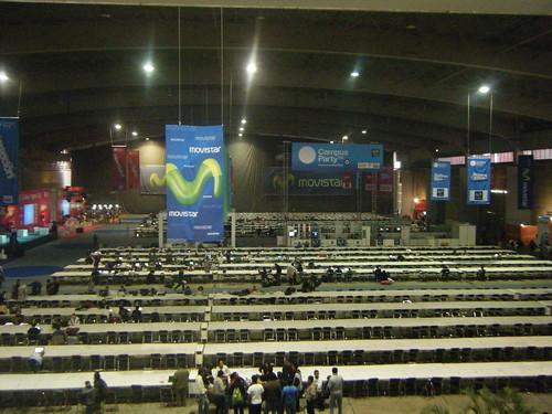Llegando a la Campus Party....Si impone el lugar