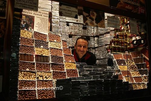 Surrounded by Chocolate! Beyoglu, Istanbul, Turkey