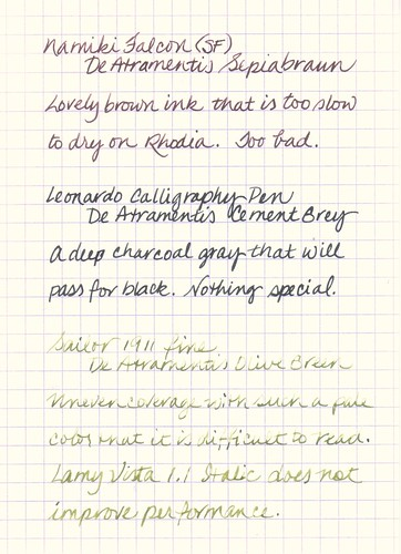 De Atramentis Ink Samples