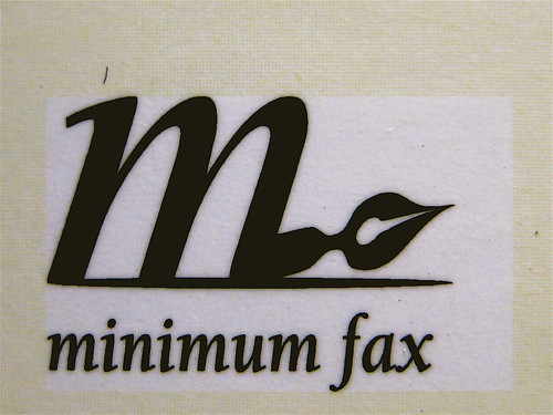 La doppia vita di Rimbaud, di Edmund White, Minimum Fax 2009; progetto grafico di Riccardo Falcinelli, alla cop.: marchio della casa editrice