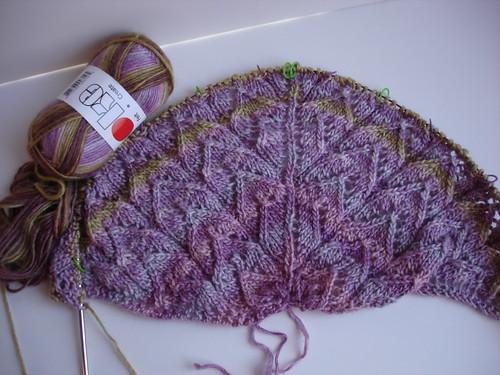198 yards spring shawl