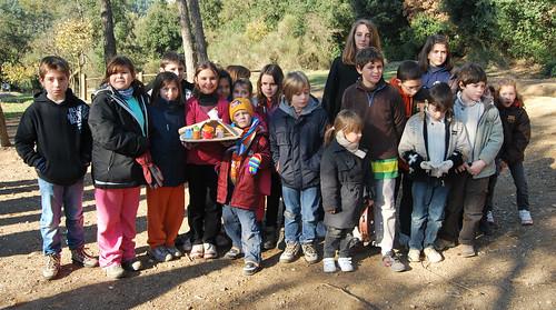 Celebració del Nadal, 19 de desembre de 2009, a Sant Medir - foto nenes