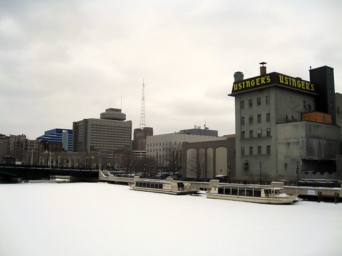 milwaukee riverfront, starring the sausage factory