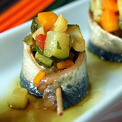 Sardines Marinades amb verduretes