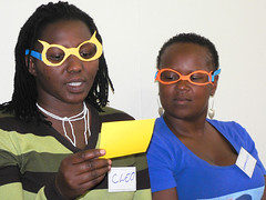 Mamelani staff take part in creative exercises...
