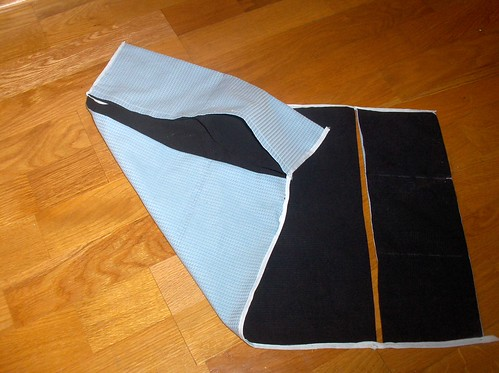 Spinner's lap cloth, reversible