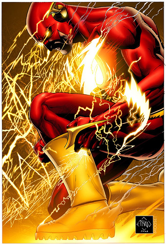 Now that's how you draw the Flash.  Shit.