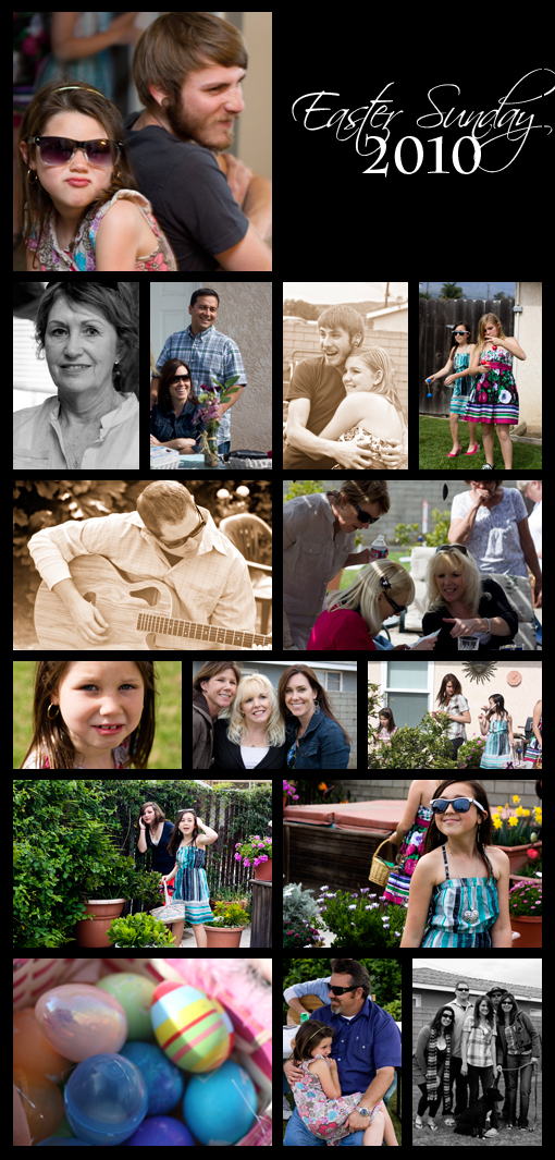 This is a series of photographs from Easter with my family.