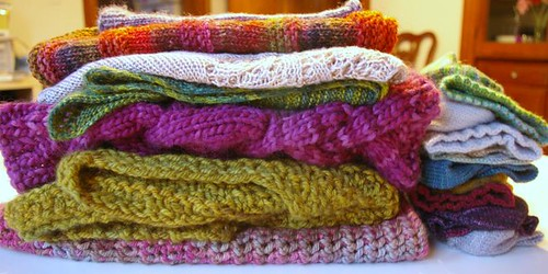 Pile of knits