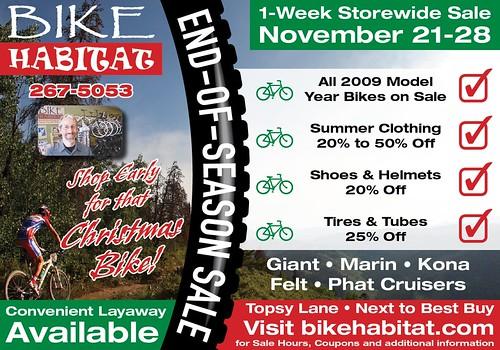 Bike Habitat 2009 Sale Ad