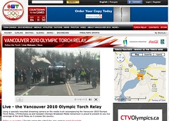 Live Webcam @ Vancouver 2010 Olympic Torch Relay - Pix 9 (Mallory Sanford)