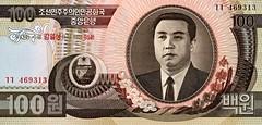 North Korean 100 won note front