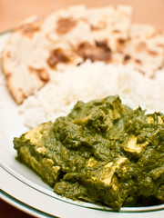 "Collards and Tofu in the style of ""Palak ..."