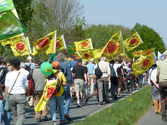 Anti Nuclear protest near AKW Unterweser Esenshamm Germany