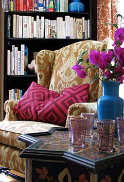 carla lane ikat wing chair