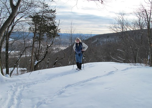Slogging with Housatonic valley in background