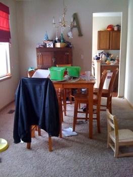 Post-Weekend Dining Room Disaster
